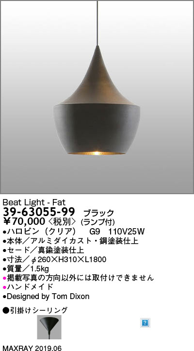 マックスレイ MAXRAY BEAT LIGHT - FAT 39-63055-99